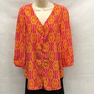 Peach Love bright colored bottom down tunic